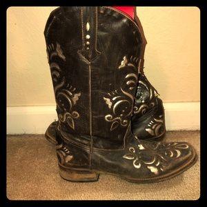 Roper Square Toe Cowboy Boots
